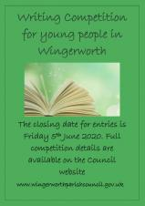 Writing competition for young people of Wingerworth - deadline for entries extended!