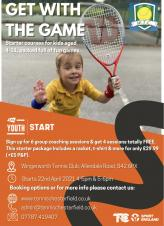 Starter tennis lessons for children